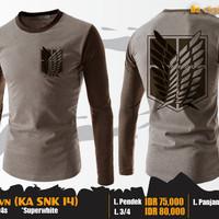 Jual SNK T-Shirt Brown (Kaos Attack On Titan - KA SNK 14) Murah