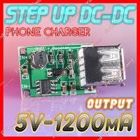 Step Up 2-5V DC USB Output 1200mA 5V Charger HP Baterai Lithium 18650