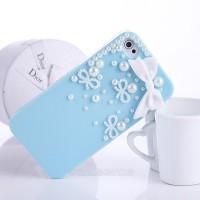 harga Case iPhone 5 5S Handmade 3D PITA RENDA MUTIARA HARD CASE BIRU Tokopedia.com