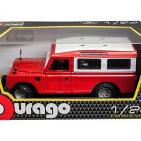 Diecast Bburago 1:24 - Land Rover Merah