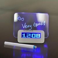 Jam Weker LCD Display dilengkapi Alarm dan Memo Board - 003