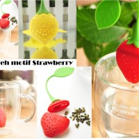 saringan teh motif strawberry