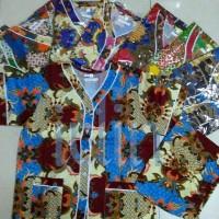 Baju Tidur/ Piyama Batik Dewasa Set Baju Celana (s, M, L, Xl)