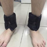 Pemberat kaki warna hitam isi pasir @500gram total 1kg