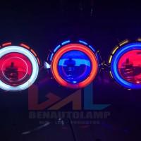 "HID Projector/Projie AES Super G1 3.5"" Double Angel Eyes + Demon Eyes"