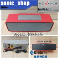 Speaker ES040B Merah Portable Bluetooth Advance