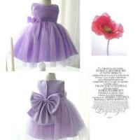 Dress Lady Lily Busana Anak Baju Anak Wanita Bahan Satin Bridal + Tule