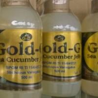 Jual Jelly Gamat / Gold G Sea Cucumber Jely Original 500 ml ( Herbal Alami Asli Ekstrak Teripang Laut Produksi GNE, Bio, Jeli, Emas ) Murah