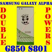 Baterai Batrai Batere Batre Samsung Galaxy Alpha G850 S801 Rakki Panda