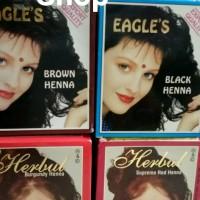 HENNA CAT RAMBUT EAGLE & HERBUL ( BOX ISI 6 SHACET)