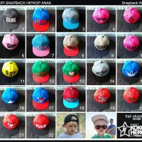 topi Snapback Anak Hip hop running Man Cap kid hat kids