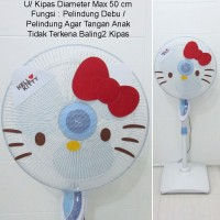 Hello Kitty Cover Sarung Kipas Angin White
