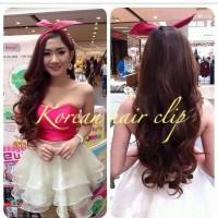 Jual Hair Clip Big Layer Curly / Lurus Pink hairclip Murah