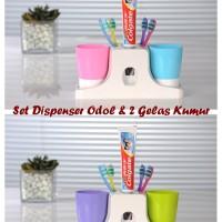 Set Dispenser Odol & 2 Gelas Kumur (Bisa digantung