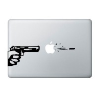 harga Tokomonster Decal Sticker Gun Pistol Shooting Macbook Pro and Air Tokopedia.com