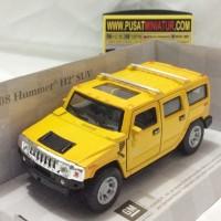 HUMMER H2 SUV (KUNING) - SKALA 1:32-36 - KINSMART (DIECAST-MINIATUR)