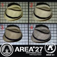 Jual Topi Fedora Jerami Teksture Import Straw Hat HAT0227003 Murah