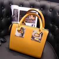 tas kuning jinjing tenteng tali multifungsi import formal kerja wanita