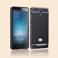 harga Metal Frame + Pc Back Case Cover For Xiaomi Redmi Note 2 Prime ~ Black Tokopedia.com