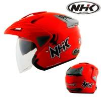 harga Helm Nhk Predator Double Visor Solid Red Tokopedia.com