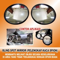 Cermin Kaca Spion Kecil Mini Cembung Wide Angle Blind Spot Car Mirrors