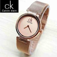 Jam Tangan Wanita Calvin Klein/CK Rantai Pasir Full Rosegold