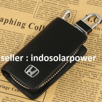 Dompet kunci kulit HITAM Honda CRV Mobilio JAZZ Brio City Civic Freed