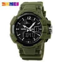 SKMEI Military Men Sport LED Watch WR 50m - AD1040 - Army Green 1040