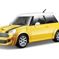Diecast Bburago 1:24 - Mini Cooper S Hard Top merah / Kuning
