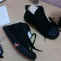 Sepatu sekolah anak SD SMP SMA warna hitam size 36-40