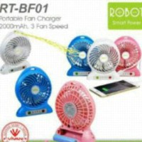 Kipas angin Powerbank merk ROBOT dari Vivan Teletama.