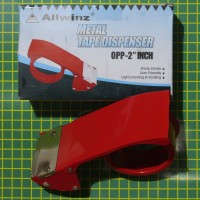 tape dispenser metal besi pemotong lakban isolasi selotip cutter