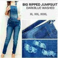 harga Jumpsuit Jeans Destroy Jumbo Tokopedia.com