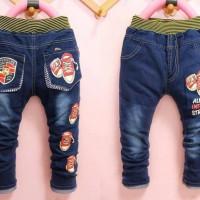 BC091 Celana Jeans Anak Sepatu Tali Merah (Ready)