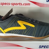 Sepatu futsal specs horus dark charcoal yellow 2015 original 100% sale