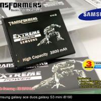 Baterai Samsung Galaxy s3 Mini i8190 Batre Transformer 3800mAh
