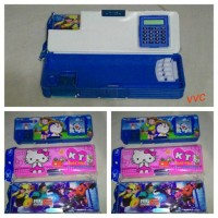 Kotak Pensil Karakter / Tempat Pensil Ada Kalkulator