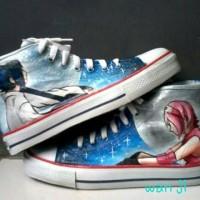 harga sepatu lukis/ sepatu anime/ sepatu naruto/ sepatu request Tokopedia.com