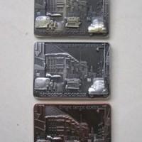 Magnet / tempelan kulkas metal souvenir / oleh - oleh negara Indonesia