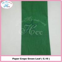 Paper crepe green leaf
