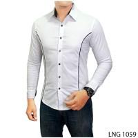 harga Kemeja Slimfit Model Korea Warna Putih  Lng 1059 Tokopedia.com