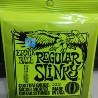 Senar Gitar Elektrik 010 Ernie Ball 2221 Regular Slinky Original