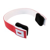 Bluetooth Headset Two Channel MP3 Music Headphone - BTH-401 - Red