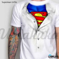Harga superman un tie kaos 3d umakuka white only   antitipu.com