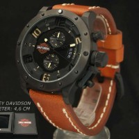 Harley Davidson 6381 Black Brown Leather