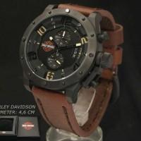 Harley Davidson 6381 Black Dark Brown Leather