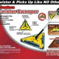 CORDLESS TWISTER SWEEPER ( SWIVELS 360^) SAPU LISTRIK