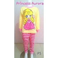 Setelan Baju Tidur Anak Piyama Princess Aurora
