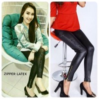 ZIPPER LATEX LEGGING