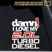 harga Jdm Sticker Mobil 2.0l Turbo Diesel Honda Suzuki Nissan Toyota Dmn-393 Tokopedia.com